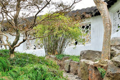 Wall in Humble Administrator's Garden. Humble Administrator's Garden is the representative works of Chinese Jiangnan classical garden.In 1997 was approved by stock photo
