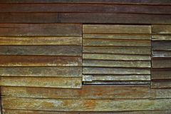 Wall of Hut Planks Old Wooden Background. Wall Hut Planks Old Wooden Background Texture Window Plant Green Brown Natural Travel royalty free stock images