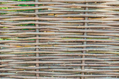 The wall of the hut of woven vine branches Royalty Free Stock Photo