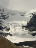 Wall of Ice. Dome Glacier, part of the Columbia Icefield. Jasper National Park, Alberta, Canada Royalty Free Stock Photography