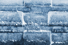Wall of ice cubes as texture or background Stock Image