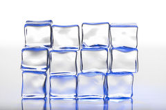 Wall of ice cubes. Wall of blue ice cubes, for cold, winter related themes Stock Photos