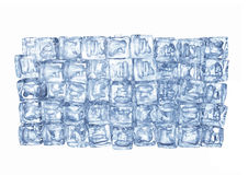 The wall of ice cubes Royalty Free Stock Images