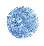 The wall of ice cubes Stock Image
