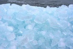 A wall of ice floes in drifting ice, Netherlands Royalty Free Stock Photos