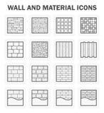 Wall icon sets Stock Photo