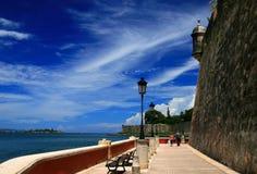 Wall III. Old San Juan city's wall Royalty Free Stock Photography