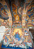 The wall image of the frescoes of the Rila Monastery, Bulgaria Stock Images