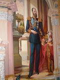 Wall image of the Russian Emperor. Alexander IIICrimea, Livadia palace stock images