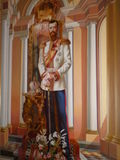 Wall image of the Russian Emperor. Nicholas II Crimea, Livadia palace royalty free stock image