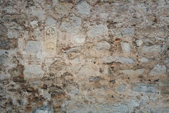 Wall with imprints of ancient frescoes Stock Images