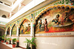 Wall of Indian Temple Royalty Free Stock Image
