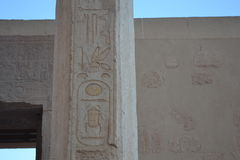 Wall inscriptions in the temple of Nefertari. Egypt. Wall inscriptions in the temple of Nefertari. The ancient civilizations. World attractions. The Ancient Stock Images