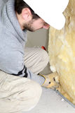 Wall insulation royalty free stock photos
