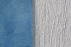 Wall insulation, mortar, plaster, mesh Royalty Free Stock Photos