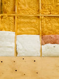 Wall insulation to save heating energy Royalty Free Stock Photo