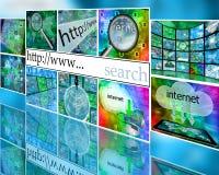 Wall of internet Royalty Free Stock Photos