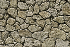 Wall of irregular shaped stones Stock Photography