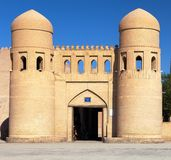 Wall of Itchan Kala - Khiva Royalty Free Stock Photos