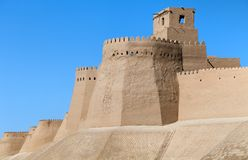 Wall of Itchan Kala - Khiva - Uzbekistan Stock Image