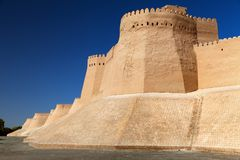 Wall of Itchan Kala - Khiva - Uzbekistan Stock Photo