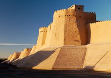 Wall of Itchan Kala - Khiva - Uzbekistan Royalty Free Stock Photos