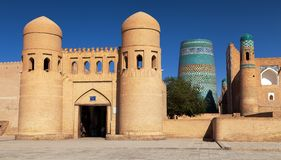 Wall of Itchan Kala - Khiva - Uzbekistan Royalty Free Stock Image