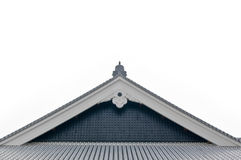 Wall of japanese castle. Roof of a traditional Japanese wooden architecture Royalty Free Stock Photo