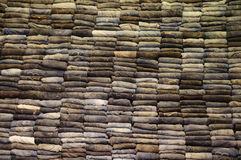 Wall of jeans. Royalty Free Stock Photography
