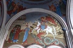 Wall of Kashveti Church Stock Images