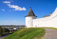 Wall Kazan kremlin Stock Image