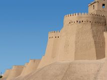 Wall at khiva Royalty Free Stock Photo