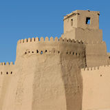 Wall at khiva Stock Images