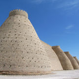 Wall at khiva Stock Photos