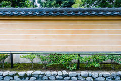 Wall of Kinkaku-ji Temple. & x28;The Golden Pavilion& x29; in Kyoto, Japan Royalty Free Stock Photography