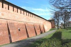 The wall of the Kolomna Kremlin Royalty Free Stock Photos