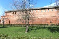 The wall of the Kolomna Kremlin Stock Image