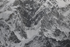 Wall of Kongma Tse (Mehra Peak) 5849m. Valleys of Khumbu. Nepal Royalty Free Stock Image