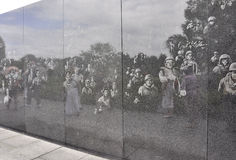Wall of Korean War Memorial from Washington District of Columbia Royalty Free Stock Images