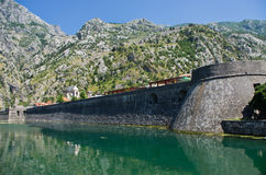 Wall of Kotor, Montenegro Royalty Free Stock Images