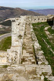 Wall of Krak des Chevaliers Stock Image