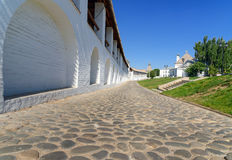 Wall of Kremlin in Astrakhan. Russia Royalty Free Stock Photo