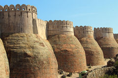 Wall of kumbhalgarh fort Royalty Free Stock Image