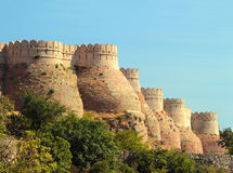 Wall of kumbhalgarh fort Stock Photo