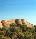 Wall of kumbhalgarh fort Stock Photography