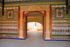 Wall in La Cartuja monastery royalty free stock image