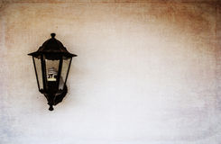 Wall lamp with background Stock Images