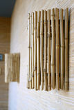 Wall lamp from bamboo Royalty Free Stock Photography