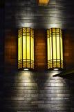 Wall lamp on brick wall Royalty Free Stock Photos