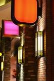 Wall lamp on brick wall Royalty Free Stock Photo